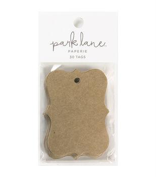 Park Lane Paperie 30 pk Small Cartouche Tags-Kraft