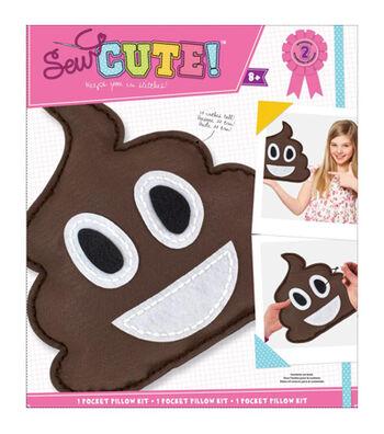 Sew Cute! Felt Pillow Kit-Emoji Pile Of Poo