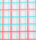 Blizzard Fleece Fabric 59\u0022-Coral Mint Plaid