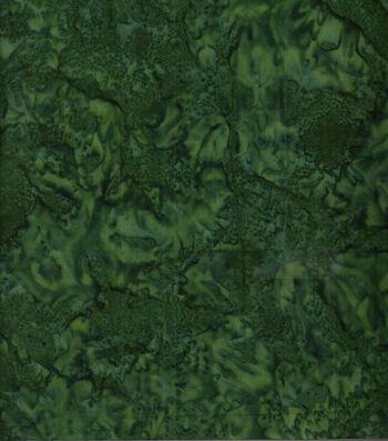 "Batik Cotton Fabric 44""-Deep Green Tonal"