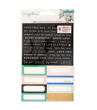 Maggie Holmes Label Stickers-Flourish