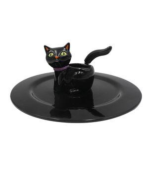 Maker's Halloween Cat Chip & Dip Serving Set-Black