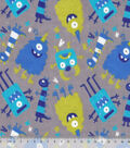 Snuggle Flannel Fabric 42\u0022-Nighttime Monsters