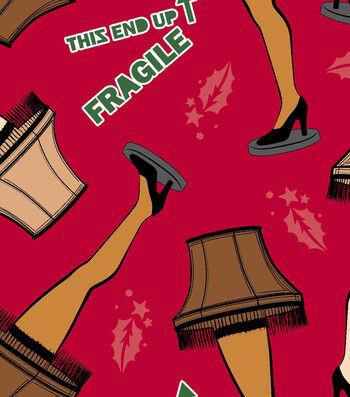 A Christmas Story Fleece Print Fabric -Leg Lamp