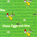 Dr. Seuss Cotton Fabric-Green Eggs and Ham Text