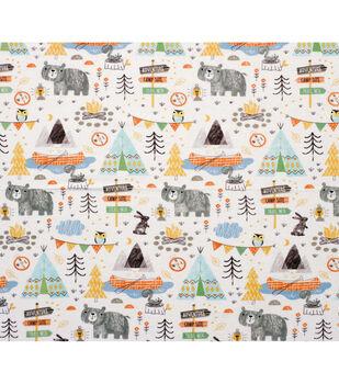 Super Snuggle Flannel Fabric-Camping Mix