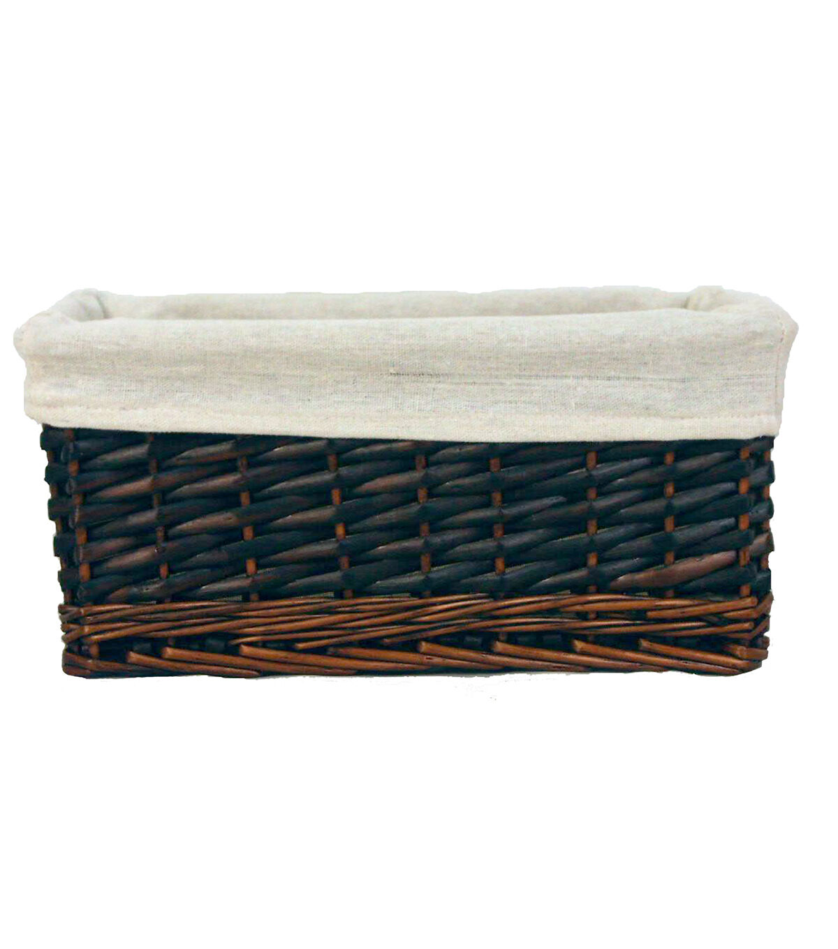 Organizing Essentials Willow Lined Media Basket?