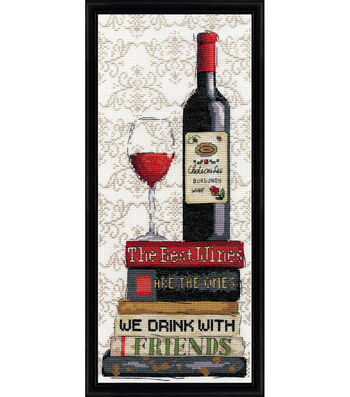 Design Works 6''x14'' Counted Cross Stitch Kit-Red Wine