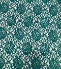 Stretch Lace Knit Fabric-Teal