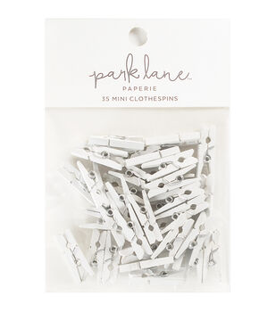 Park Lane 35 pk Mini Clothespins-White