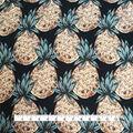 Smocked Dressing Rayon Fabric 53\u0027\u0027-Pineapples