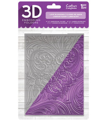 Crafter's Companion 5''x7'' 3D Embossing Folder-Love Blossoms