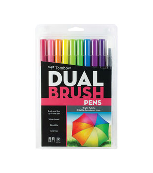 Tombow Dual Brush Pen Set 10/Pkg-Brights