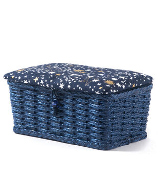 Extra Small Rectangle Sewing Basket-Stars
