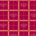 Virginia Tech Hokies Flannel Fabric 42\u0022-Plaid
