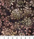 Legacy Studio Indonesian Batiks Cotton Fabric -Light Brown Floral