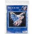 Cody Country Counted Cross Stitch Kit-Born To Be Free