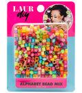 LaurDIY 3.17 oz. Bead Mix-Bright Alphabets