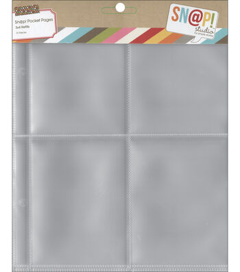"""Sn@p! Pocket Pages For 6""""X8"""" Binders-(4) 3""""X4"""" Pockets"""
