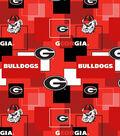 University of Georgia Bulldogs Cotton Fabric 43\u0027\u0027-Modern Block