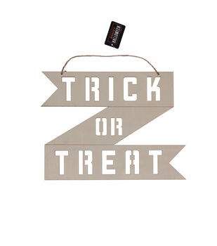 Maker's Halloween Craft Wooden Hanging Decor-Trick or Treat