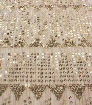 Casa Embellish Mesh Fabric 56''-Gold Uncut Dangles