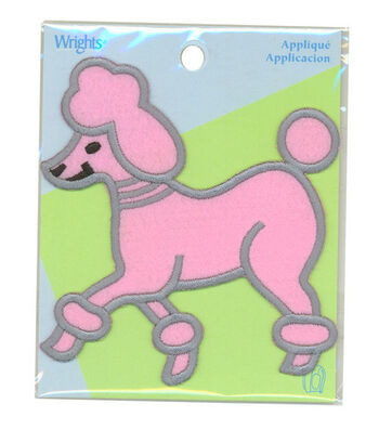 Wrights Iron-On Applique-Poodle