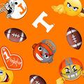 University of Tennessee Volunteers Fleece Fabric -Emoji