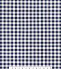 Sportswear Stretch Twill Fabric 57\u0027\u0027-Navy & White Gingham