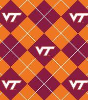 """Virginia Tech Hokies Fleece Fabric 58""""-Argyle, , hi-res"""