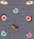 Luxe Flannel Fabric 42\u0022-Tossed Doughnuts Gray Heather