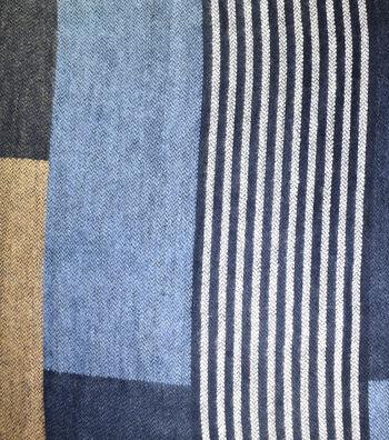 "Sportswear Acrylic Fabric 52""-Blue Squares"