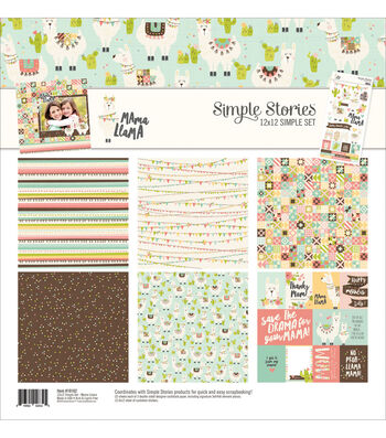 Simple Stories Mama Llama 12''x12'' Simple Sets Collection Kit