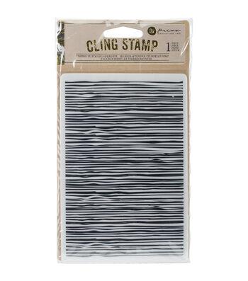 Prima Marketing Cling Stamp-Wood Design Lines