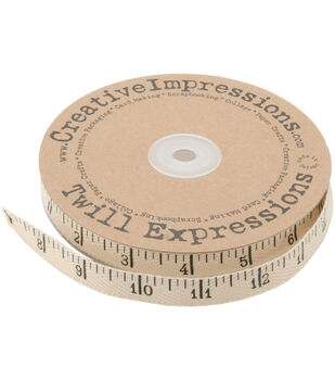 "Printed Twill .5""X25yd-Antique Ruler"