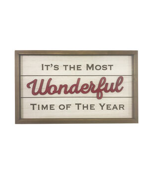 Handmade Holiday Wall Decor-It's the Most Wonderful Time of the Year