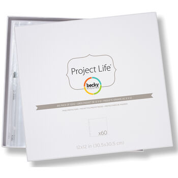 "Project Life Page Protectors 12""X12"" 60/Pkg"