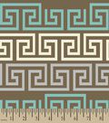 Brown Fretwork Print Fabric