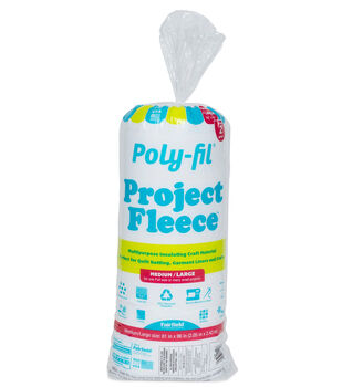 "Fairfield Poly-Fil Project Fleece 81""x96"" Full Size Batting"
