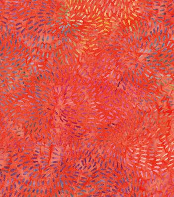 "Legacy Studio Batik Cotton Fabric 43""-Coral Bursts"