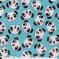 Snuggle Flannel Fabric-Tossed Panda Faces