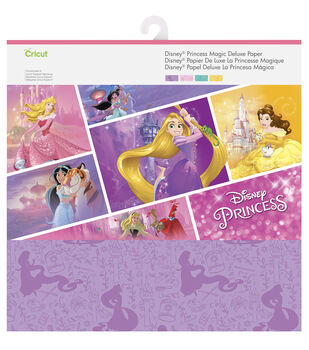 Cricut 12 Pack 12''x12'' Disney Princess Magic Deluxe Papers