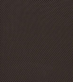 Harvest Cotton Fabric-Brown Dots Metallic