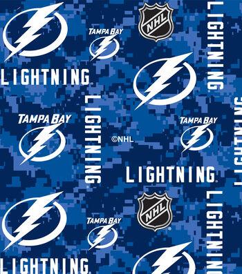 Tampa Bay Lightning Fleece Fabric-Tossed