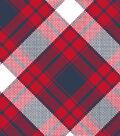 Blizzard Fleece Fabric 59\u0022-Annie Plaid Navy