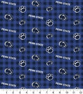 Penn State Nittany Lions Flannel Fabric-Check