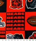 Chicago Bears Fleece Fabric -Block