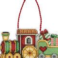 Train Ornament Counted Cross Stitch Kit