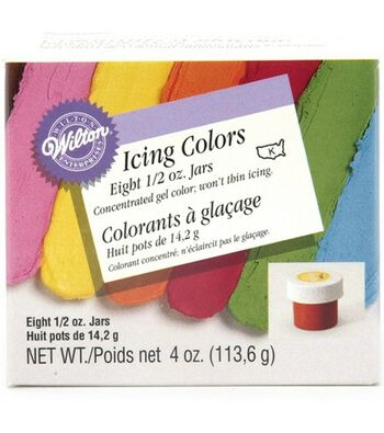 Wilton 8-Icing Colors Set