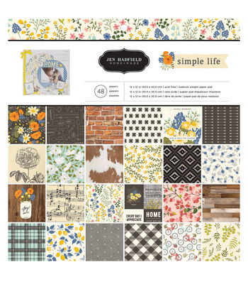 Jen Hadfield Simple Life Pack of 48 12''x12'' Paper Pad